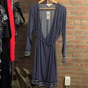 NWT Plus Michael Kors True Wrap Style Dress 2X